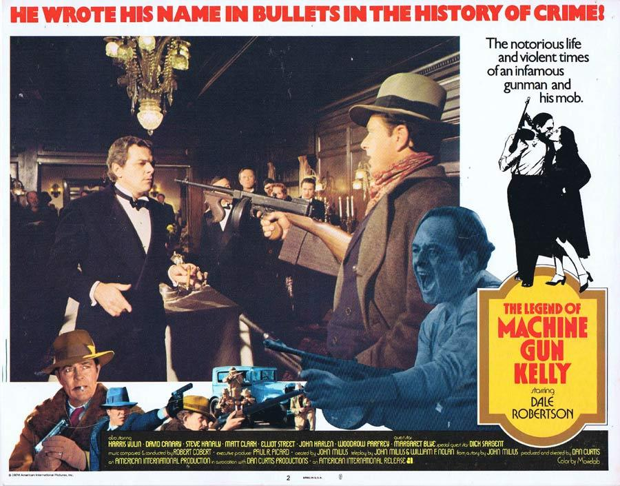 THE LEGEND OF MACHINE GUN KELLY Vintage Lobby Card 2 Melvin Purvis G-MAN