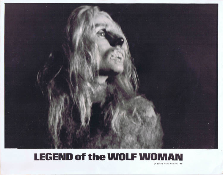 LEGEND OF THE WOLF WOMAN Lobby card 5 Horror WEREWOLF