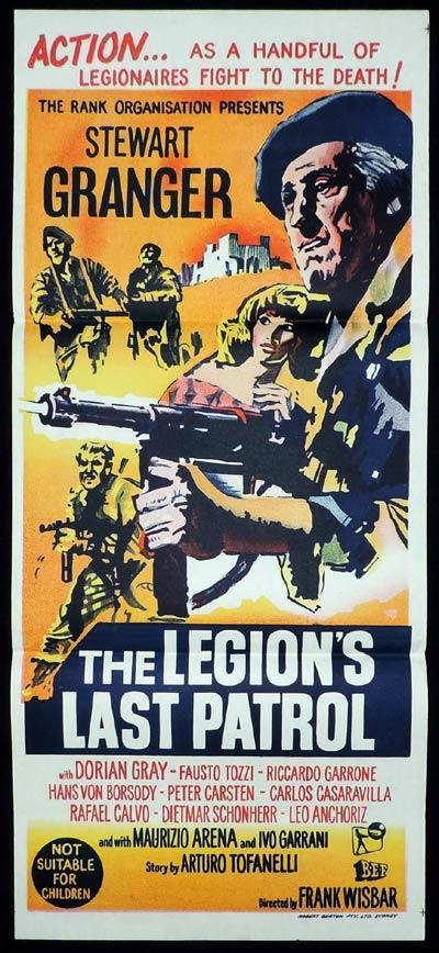 THE LEGION'S LAST PATROL Daybill Movie poster Stewart Granger Dorian Gray