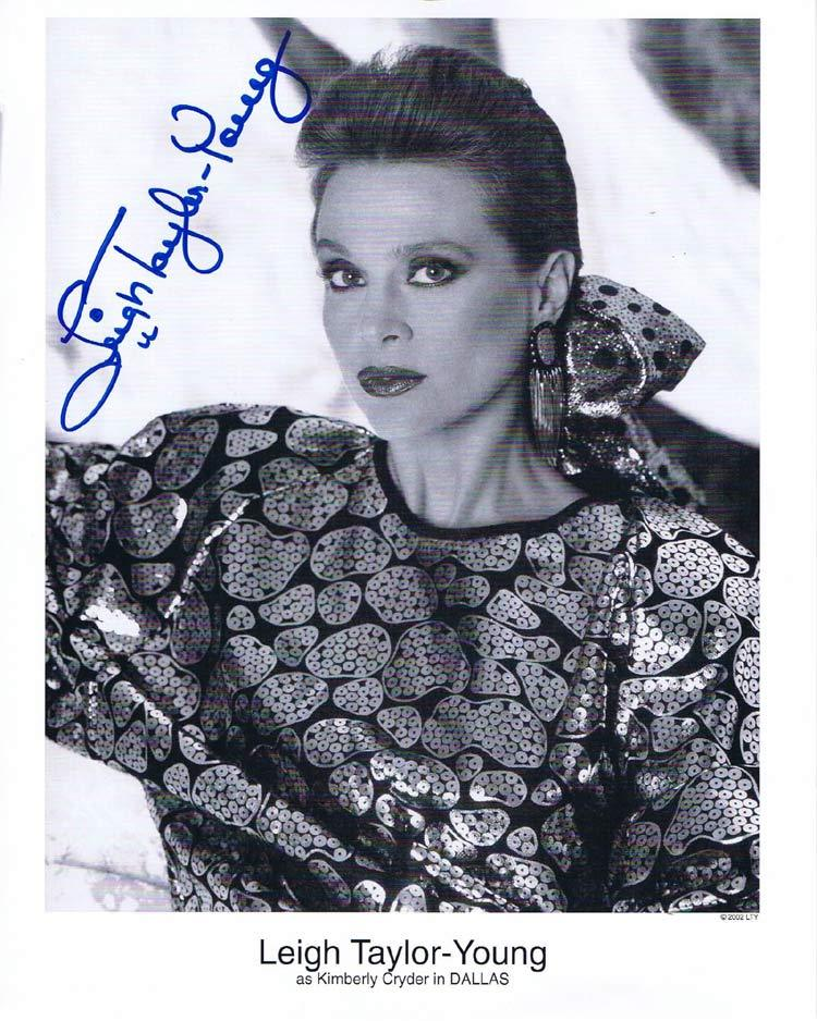 LEIGH TAYLOR YOUNG Autograph 8 x 10 Photo from DALLAS TV series