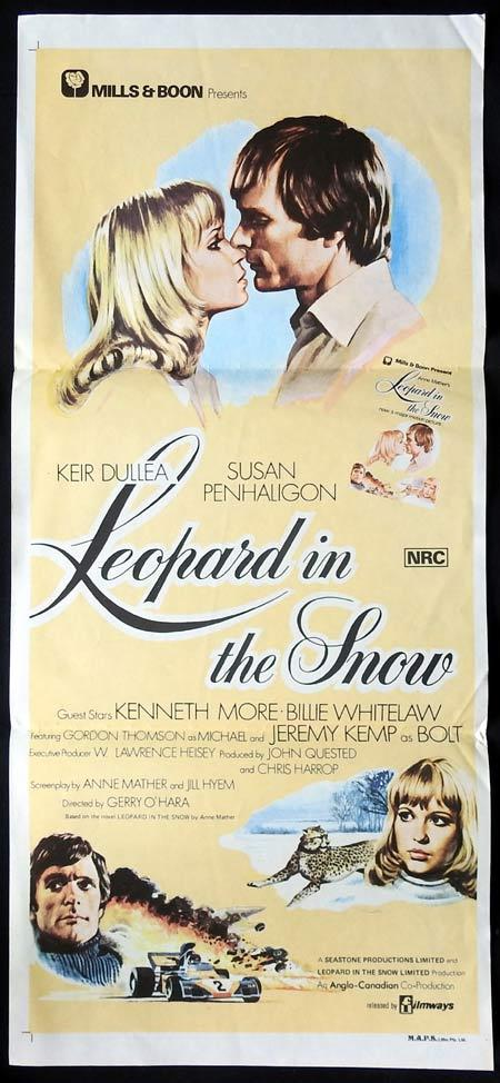 LEOPARD IN THE SNOW Daybill Movie Poster Keir Dullea Susan Penhaligon Kenneth More