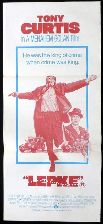 LEPKE Daybill Movie poster Tony Curtis Gangster