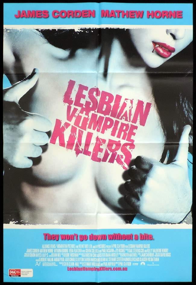 LESBIAN VAMPIRE KILLERS Original One sheet Movie poster James Corden Mathew Horne