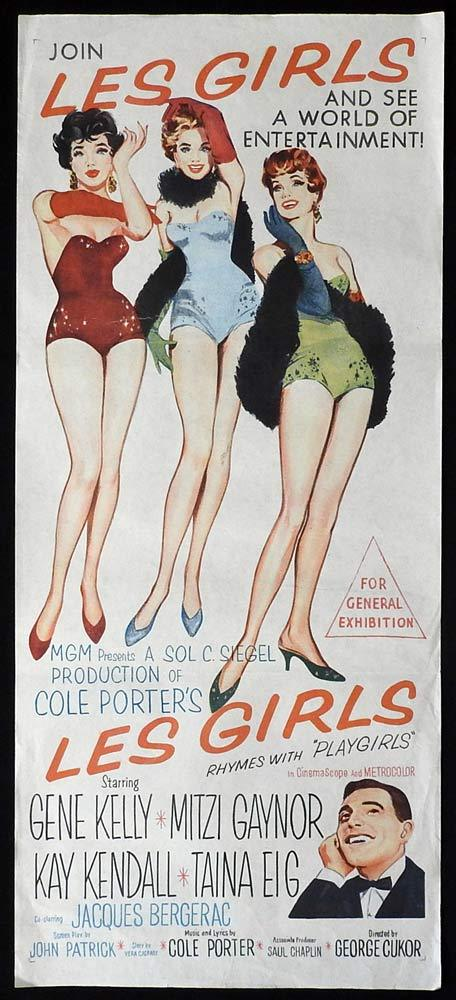LES GIRLS Original Daybill Movie Poster Mitzi Gaynor Gene Kelly