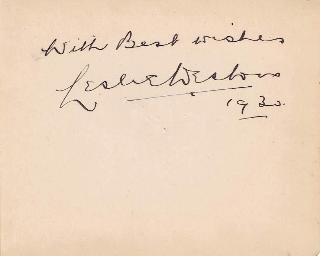 LESLIE WESTON Autographed Album Page 1952