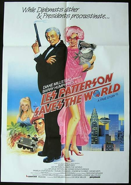 LES PATTERSON SAVES THE WORLD '87-Dame Edna-One sheet poster