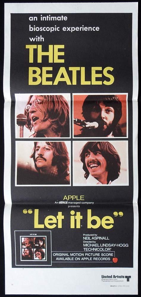 LET IT BE Original Daybill Movie Poster The Beatles