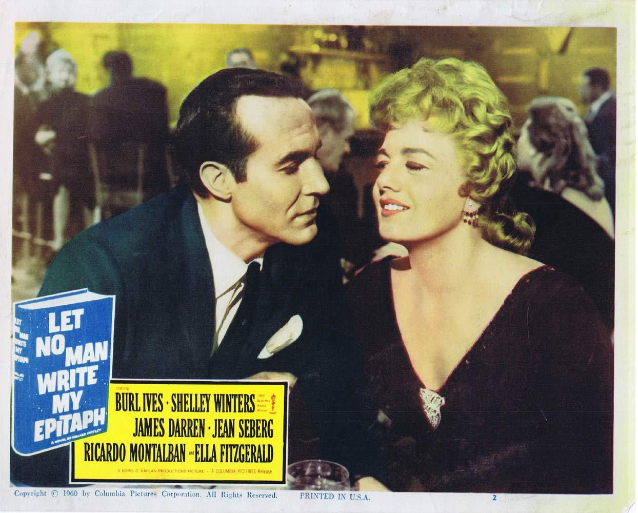 LET NO MAN WRITE MY EPITAPH Lobby Card 2 Shelley Winters Ricardo Montalban