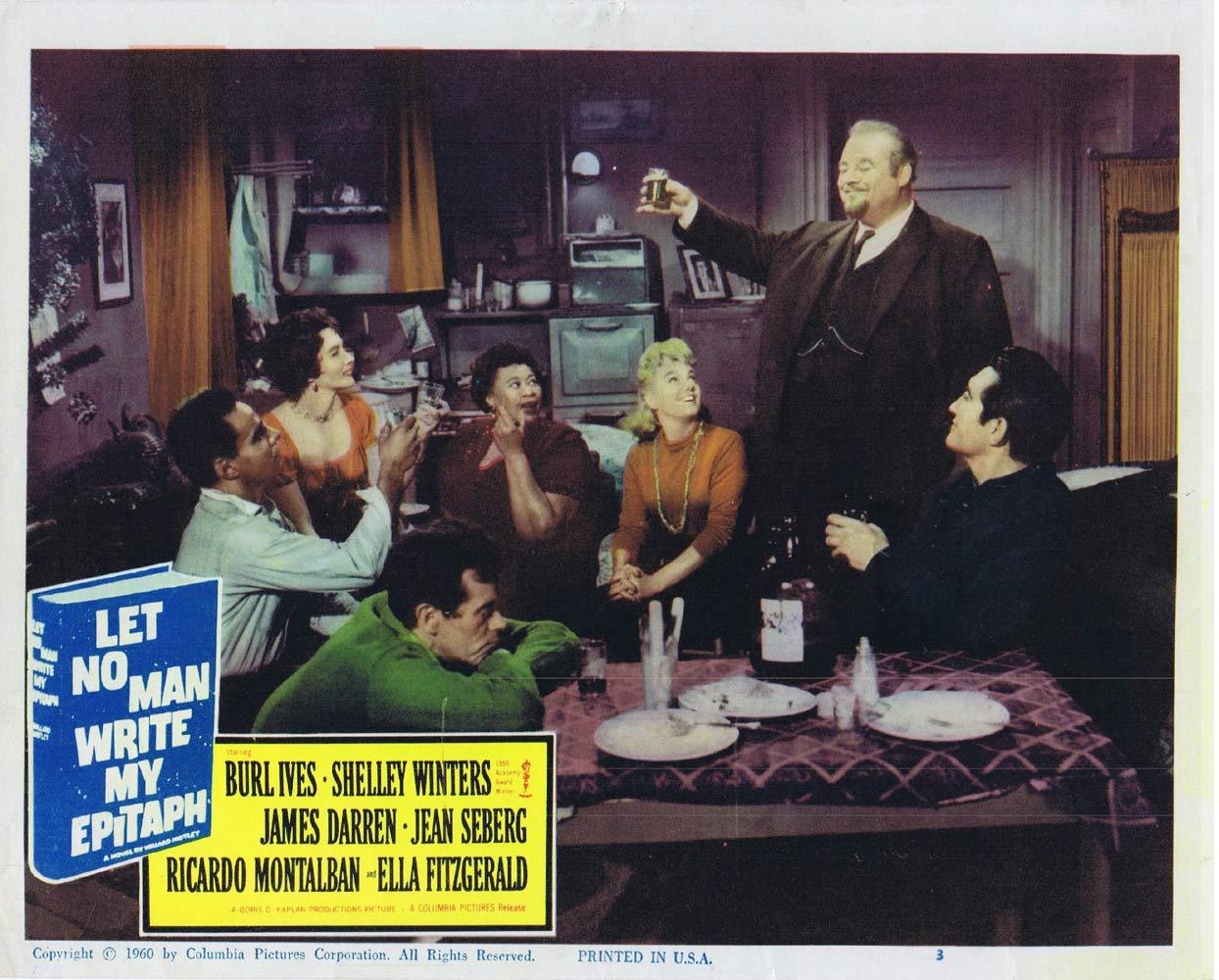 LET NO MAN WRITE MY EPITAPH Lobby Card 3 Burl Ives Ricardo Montalban