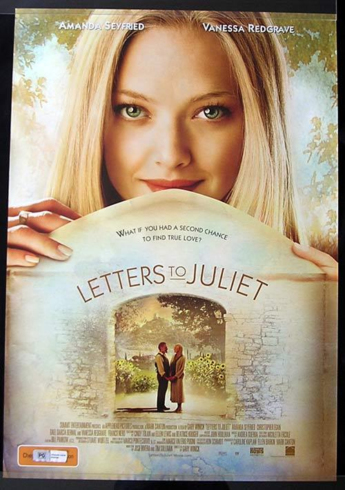 LETTERS TO JULIET Movie poster 2010 Amanda Seyfried