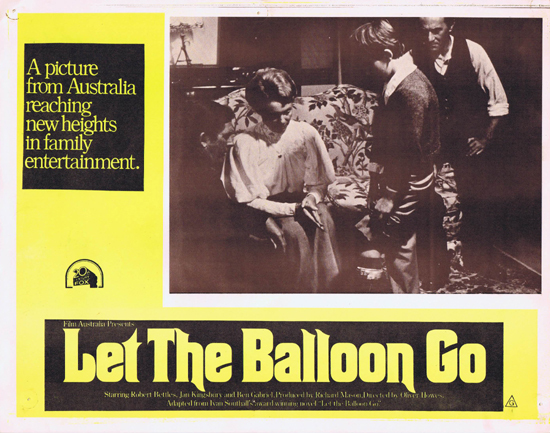 LET THE BALLOON GO Lobby Card 4 1972 John Ewart