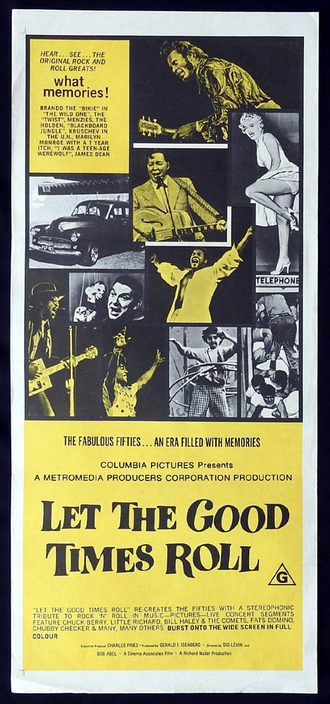 LET THE GOOD TIMES ROLL Original Daybill Movie Poster Marilyn Monroe