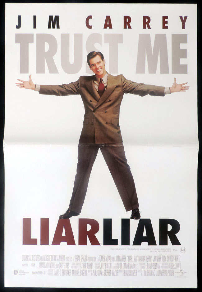 LIAR LIAR Original Daybill Movie poster Jim Carrey