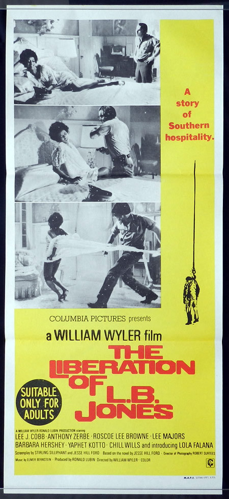 THE LIBERATION OF LB JONES Original Daybill Movie poster Lee J.Cobb