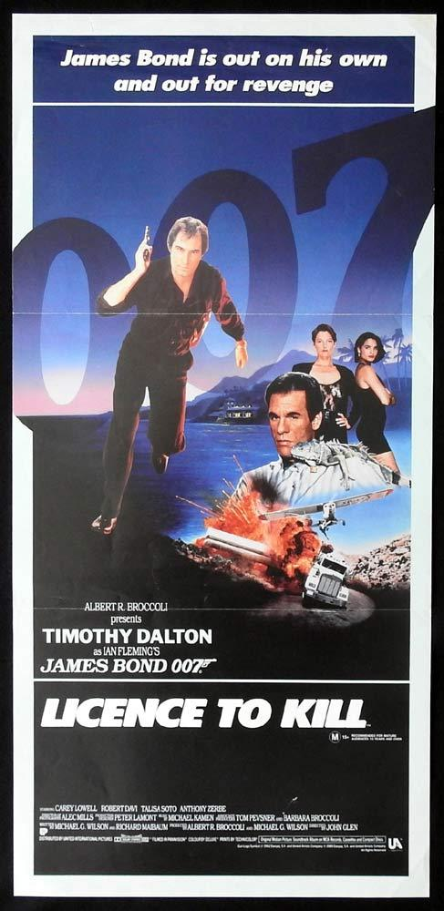 LICENCE TO KILL Original Daybill Movie Poster Timothy Dalton as James Bond