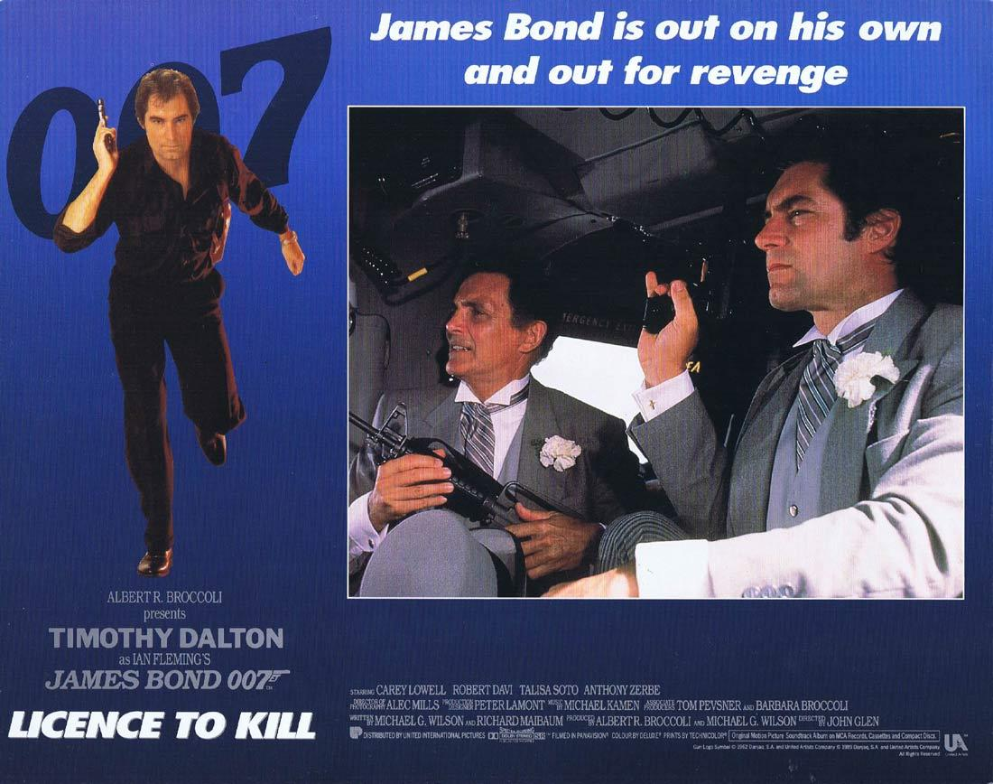 LICENCE TO KILL Lobby Card Timothy Dalton James Bond