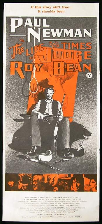 LIFE AND TIMES OF JUDGE ROY BEAN '72 Paul Newman RARE Movie Poster