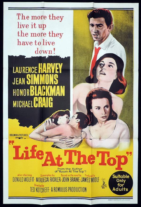 LIFE AT THE TOP One Sheet Movie Poster Lawrence Harvey