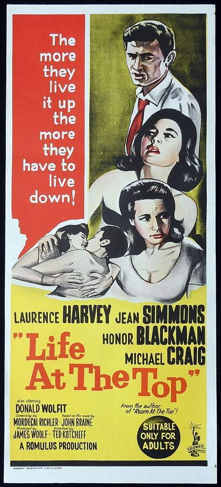 LIFE AT THE TOP Original Daybill Movie Poster Laurence Harvey Jean Simmons