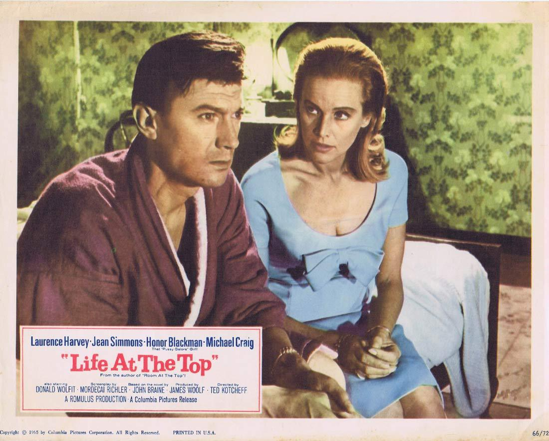 LIFE AT THE TOP Lobby Card 3 Laurence Harvey Jean Simmons