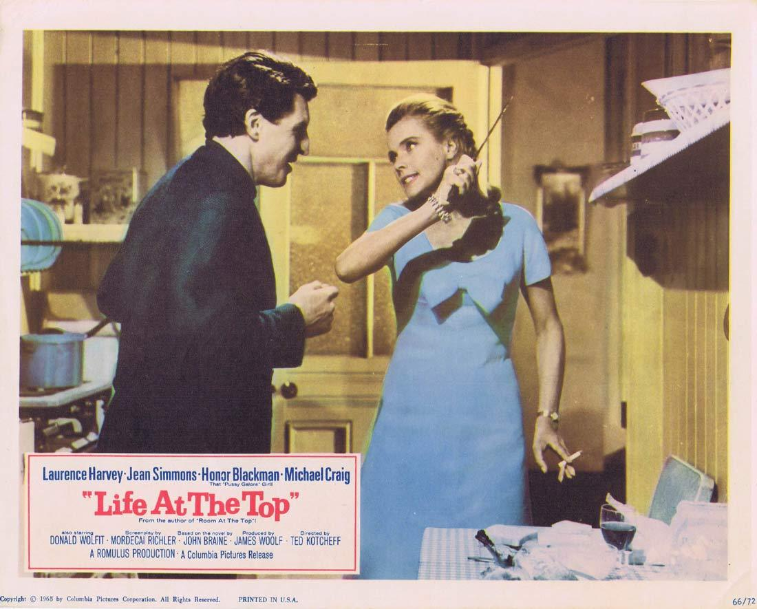 LIFE AT THE TOP Lobby Card 4 Laurence Harvey Jean Simmons