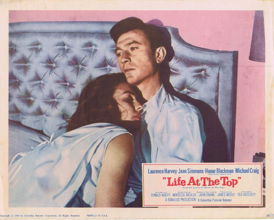 LIFE AT THE TOP Lobby Card 5 Laurence Harvey Jean Simmons