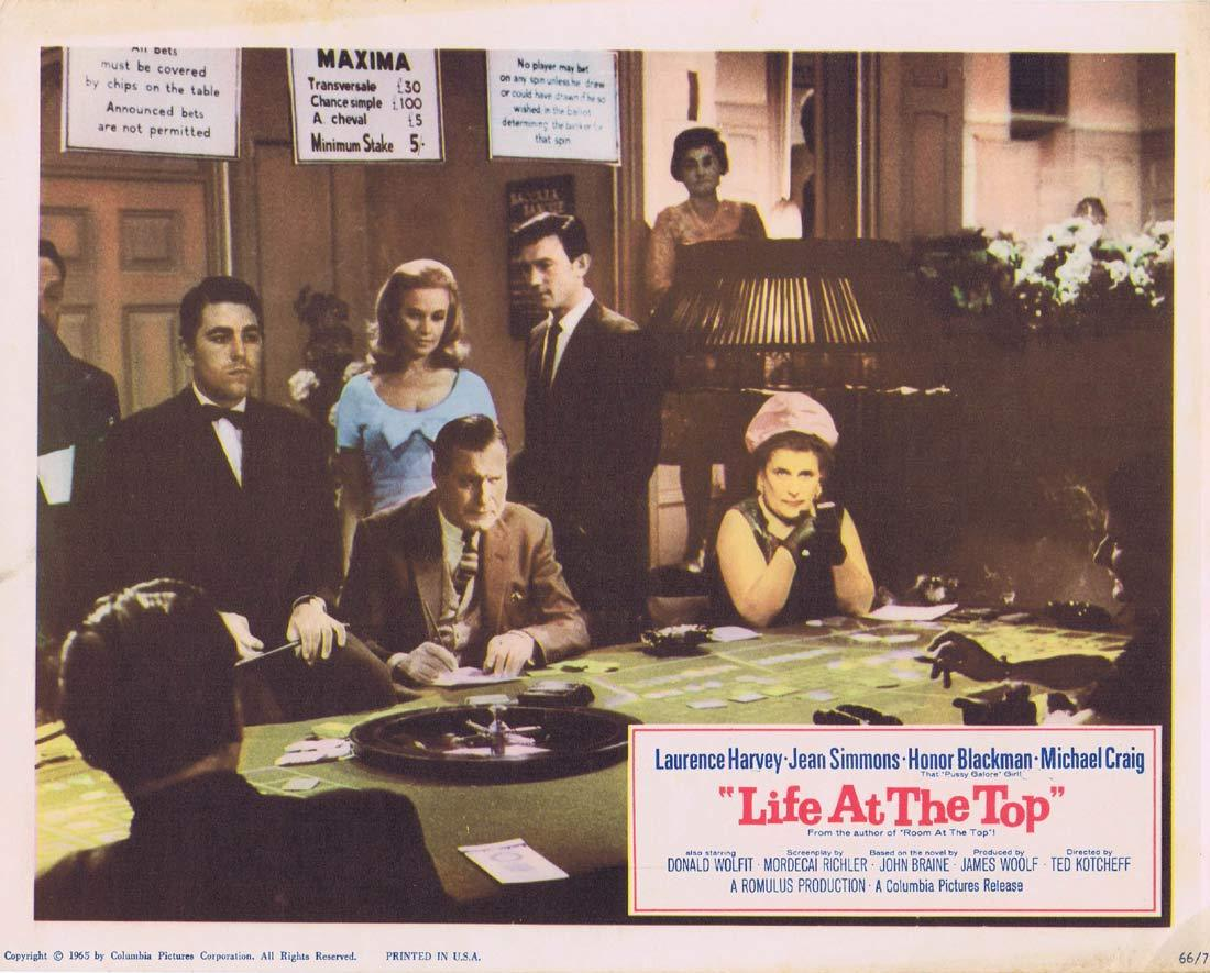 LIFE AT THE TOP Lobby Card 6 Laurence Harvey Jean Simmons