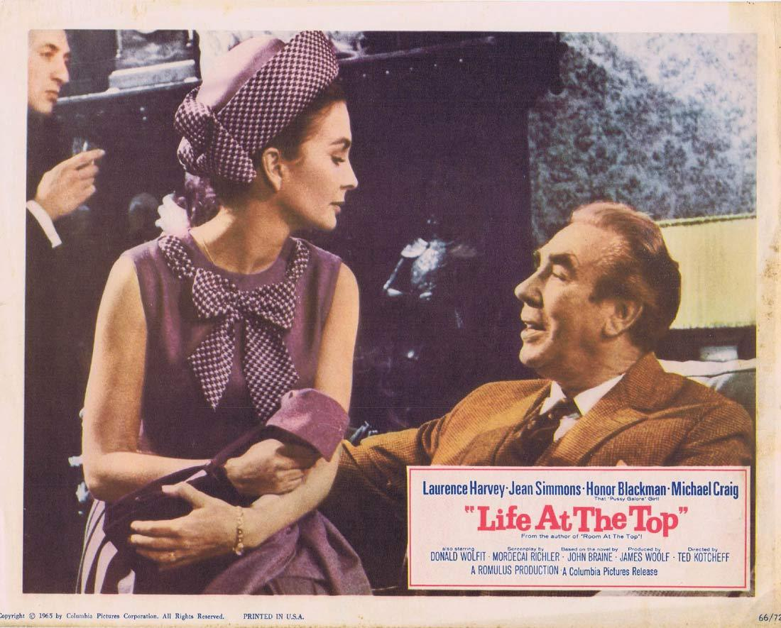 LIFE AT THE TOP Lobby Card 7 Laurence Harvey Jean Simmons