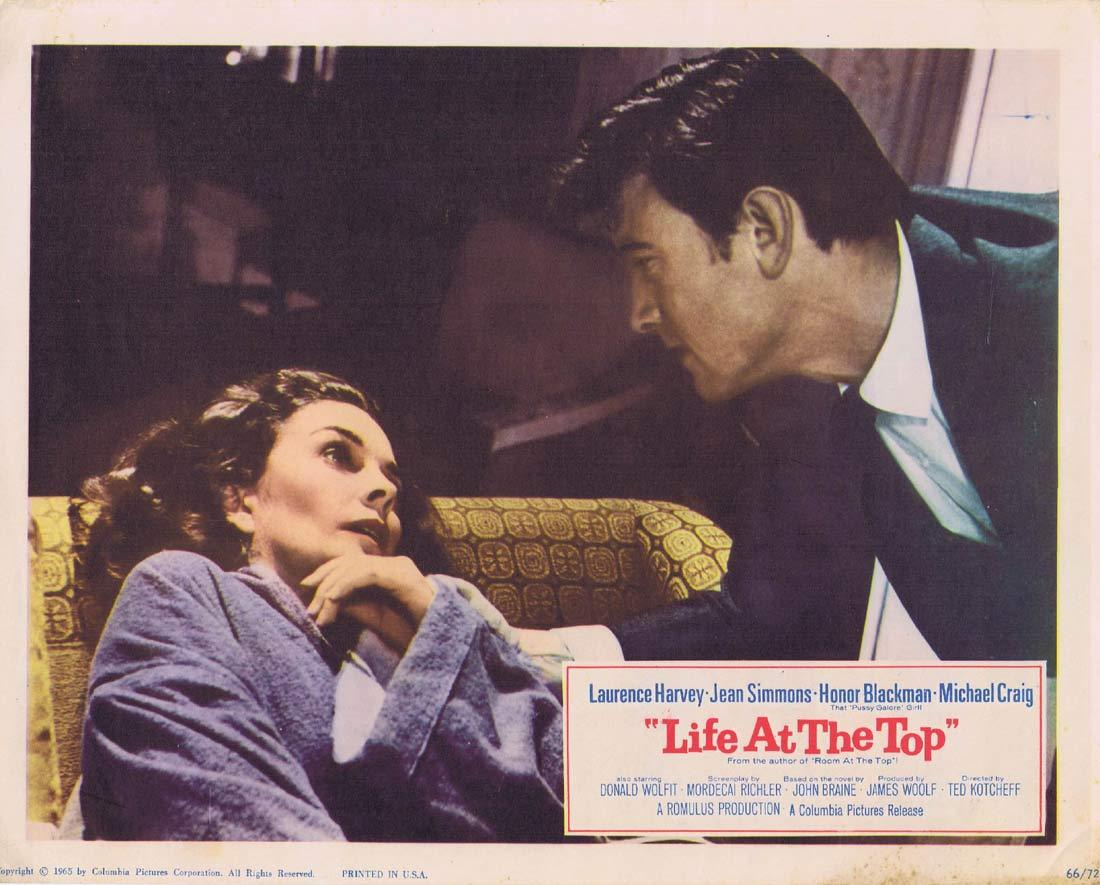LIFE AT THE TOP Lobby Card 8 Laurence Harvey Jean Simmons
