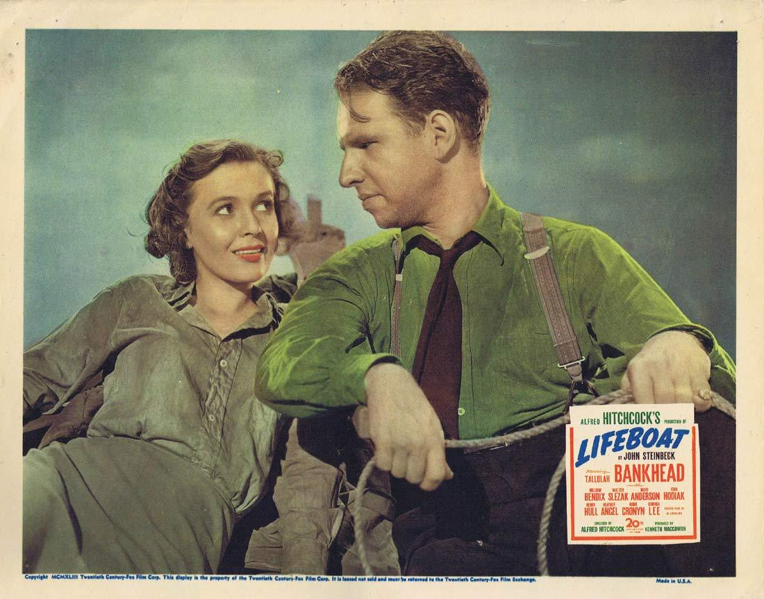LIFEBOAT Lobby Card Alfred Hitchcock Hume Cronyn Heather Angel