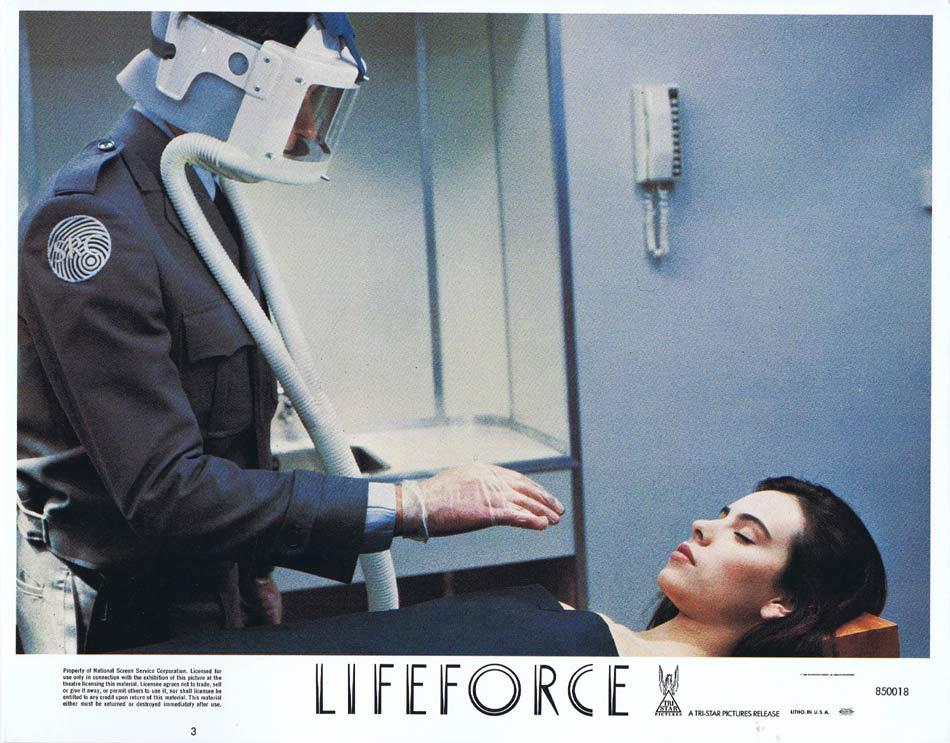LIFEFORCE Lobby Card 3 Space Vampires Sci Fi Horror