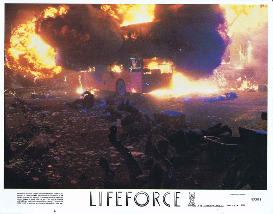 LIFEFORCE Lobby Card 6 Space Vampires Sci Fi Horror