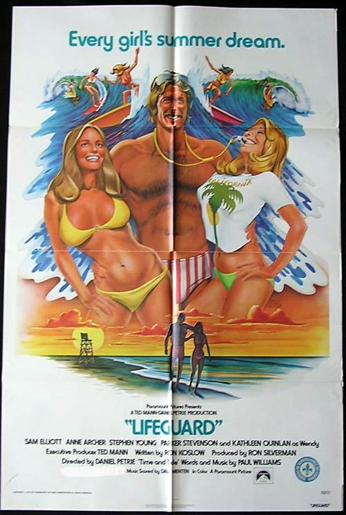 LIFEGUARD Original One sheet Movie poster Sam Elliott SURFING Anne Archer