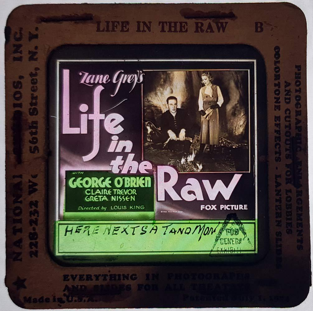 LIFE IN THE RAW Movie Glass Slide George O'Brien Claire Trevor 1933