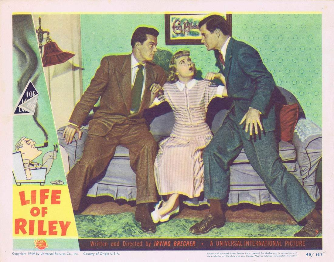 THE LIFE OF RILEY Lobby Card 7 William Bendix Rosemary DeCamp James Gleason