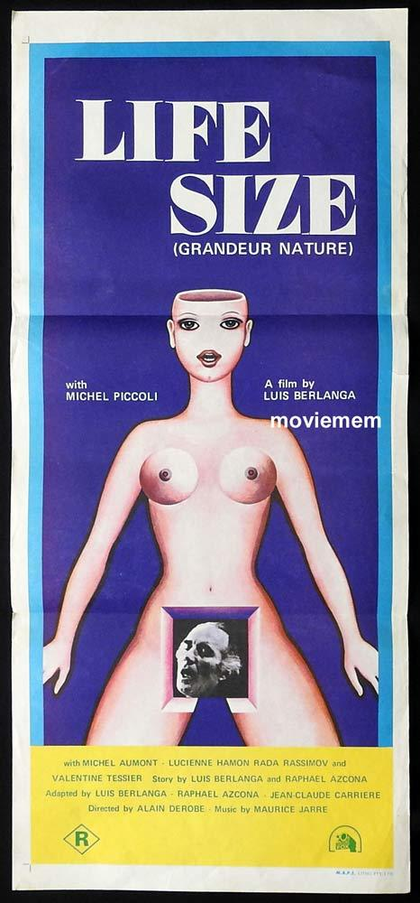 LIFE SIZE aka GRANDEUR NATURE Original Daybill Movie Poster Michel Piccoli Valentine Tessier