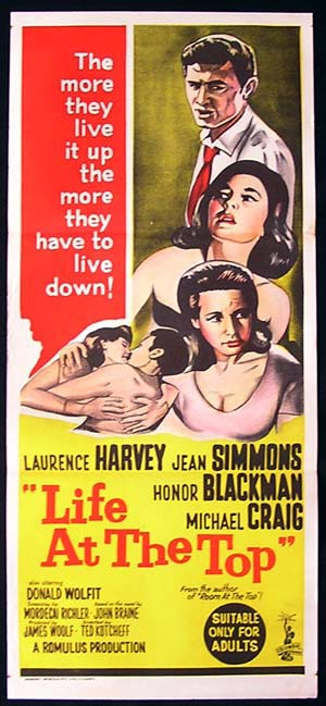 LIFE AT THE TOP Daybill Movie poster Laurence Harvey