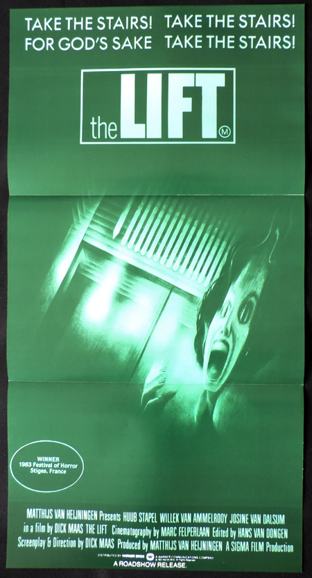 THE LIFT aka DE LIFT Australian daybill Movie poster Dick Maas Horror