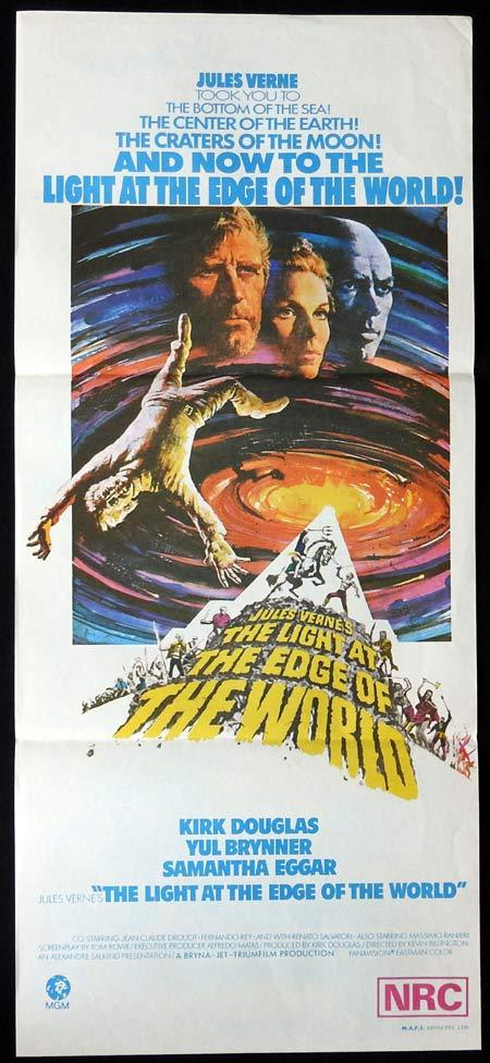 LIGHT AT THE EDGE OF THE WORLD Original Daybill Movie Poster Kirk Douglas