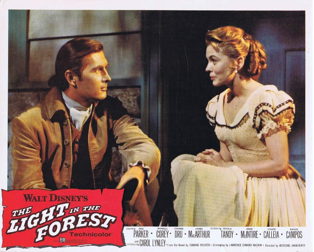 THE LIGHT IN THE FOREST Original Lobby Card Fess Parker