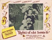 LIGHTS OF OLD SANTA FE Australian Lobby Card Roy Rogers