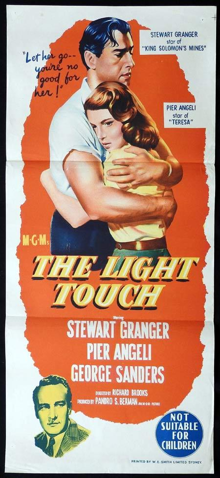 THE LIGHT TOUCH Original Daybill Movie Poster Stewart Granger Pier Angeli George Sanders