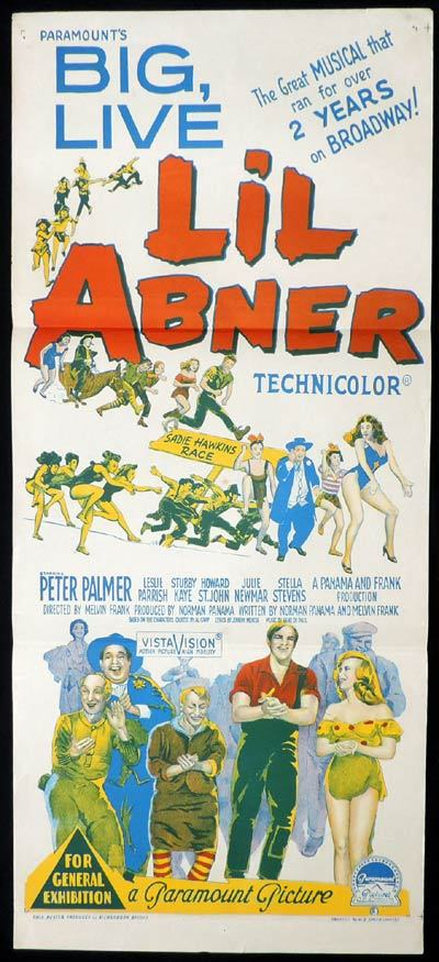 L'IL ABNER Richardson Studio JULIE NEWMAR Daybill Movie poster