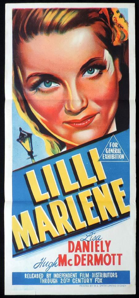 LILLI MARLENE Original Daybill Movie Poster Lisa Daniely