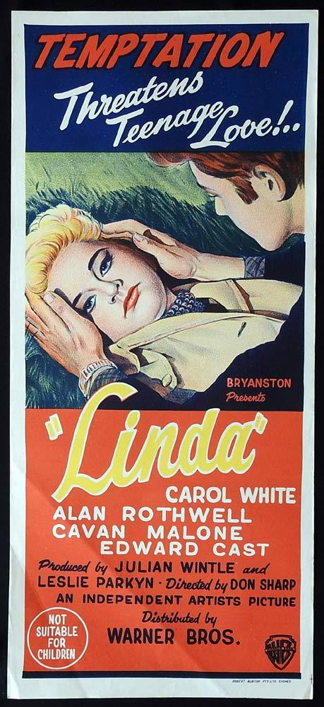 LINDA Original Daybill Movie Poster Carol White Don Sharp