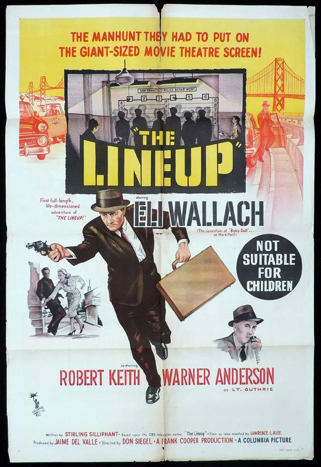 THE LINEUP One Sheet Movie Poster FILM NOIR Eli Wallach