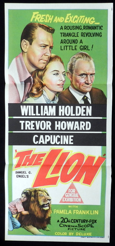 THE LION Original Daybill Movie Poster William Holden Trevor Howard Capucine