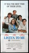 LISTEN TO ME ORIGINAL Daybill Movie poster Roy Scheider