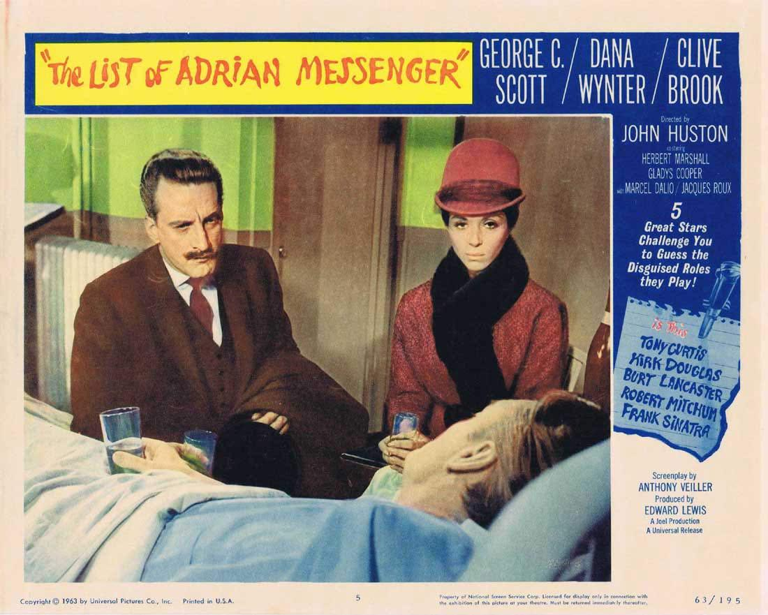 LIST OF ADRIAN MESSENGER Lobby Card 5 George C Scott