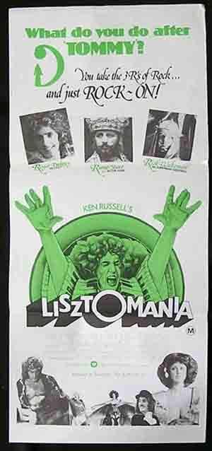 LISZTOMANIA 1973 Ken Russell DALTREY Starr Daybill Movie Poster